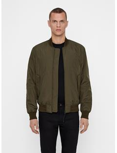 Mens Lou Clean 2-Layer Bomber Jacket Dark Green