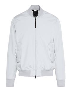 Mens Lou Clean 2-Layer Bomber Jacket Stone Grey