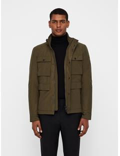 Mens Beat Textured Cony Jacket Dark Green