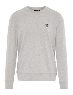 Mens Throw Ring Loop Sweatshirt Lt Grey Melange