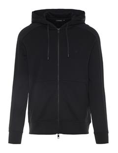 Mens Throw Ring Loop Zip Up Hoodie Black