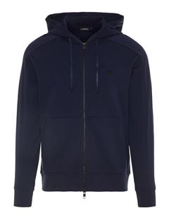 Mens Throw Ring Loop Zip Up Hoodie JL Navy