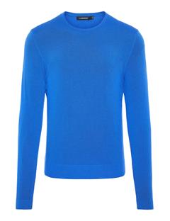 Mens Newman Perfect Crewneck Merino Sweater Pop Blue