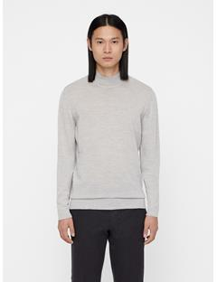 Mens Newman Perfect Turtleneck Merino Sweater Stone Grey