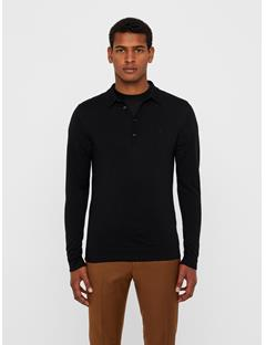 Mens Newman Perfect Merino Knit Polo Black