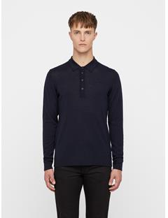 Mens Newman Perfect Merino Knit Polo JL Navy