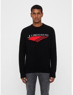 Mens Virgil Chunky Wool Sweater Black