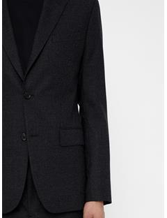 Mens Hopper Soft Flannel Blazer Dk Grey