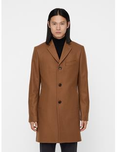 Mens Wolger Compact Melton Coat Bison