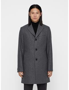Mens Wolger Compact Melton Coat Grey Melange