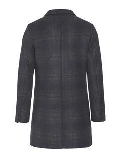 Mens Wolger Subtile Check Coat Black
