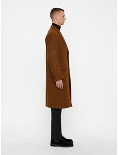 Mens James Twill Melton Coat Bison