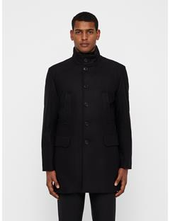 Mens Gavin Compact Melton Coat Black