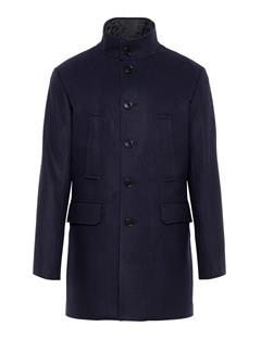 Mens Gavin Compact Melton Coat JL Navy