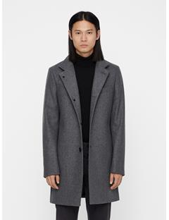 Mens Holger Compact Melton Coat Grey Melange