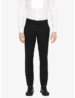 Mens Paulie Comfort Wool Tux Pants Black