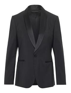 Mens Savile Comfort Wool Tux Jacket Black
