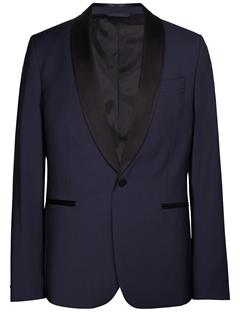 Mens Savile Comfort Wool Tux Jacket Navy