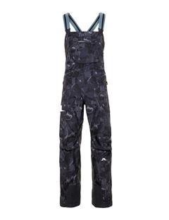 Mens Hubbard 3-Ply Bib Pant Black Sports Camo