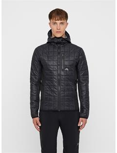 Mens Atna Pertex Hybrid Hood Jacket Black