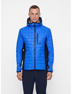 Mens Atna Pertex Hybrid Hood Jacket Daz Blue
