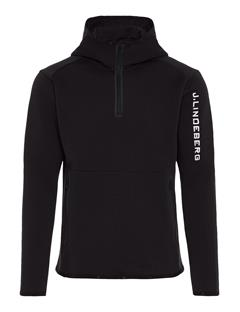 Mens Logo Tech Sweat Hoodie Black