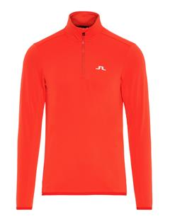 Mens Kimball Fieldsensor Half Zip Mid-Layer Racing Red