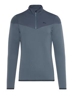 Mens Hubbard Quarter-Zip Mid-Jacket Dk Grey