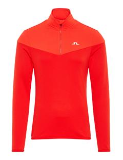 Mens Hubbard Quarter-Zip Mid-Jacket Racing Red