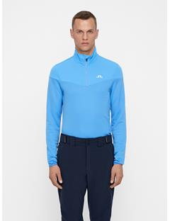 Mens Hubbard Quarter-Zip Mid-Jacket Silent blue