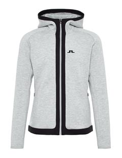 Mens Moffit Tech Sweat Hoodie Stone Grey Melange