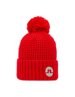 Mens Ball Beanie Racing Red