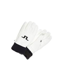 Mens Bridge Leather Gloves White