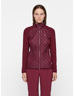Womens Atna Pertex Hybrid Jacket Dark Mahogany