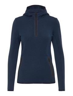 Womens Logo Tech Sweat Hoodie JL Navy