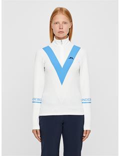 Womens Wrangell Quarter-Zip Fieldsensor Mid-layer White