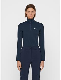 Womens Kimball Quarter-Zip Fieldsensor Midlayer JL Navy