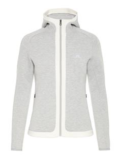 Womens Moffit Tech Sweat Hoodie Stone Grey Melange