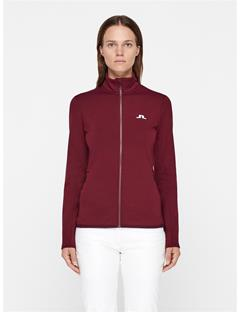 Womens Truuli Tech Jersey Mid-Jacket Dark Mahogany