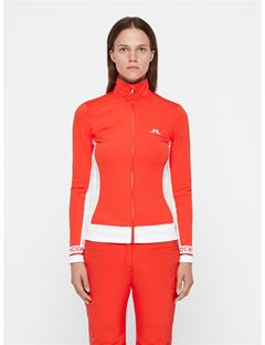 Womens Pipa Fieldsensor Mid-Jacket Racing Red