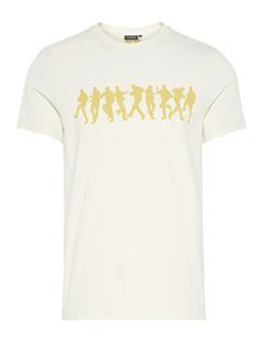 Mens Bridge Graphic Cotton T-shirt Ivory White