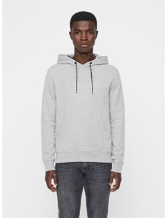 Mens Throw Ring Loop Hoodie Lt Grey Melange