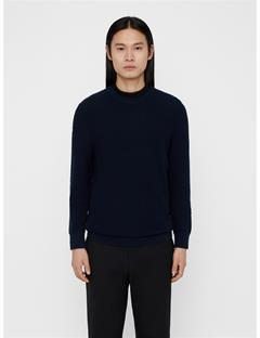 Mens Hector Mini Structure Sweater JL Navy