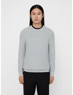 Mens Hector Mini Structure Sweater Lt Grey Melange