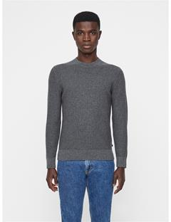 Mens Remus Vertical Structure Sweater Grey Melange