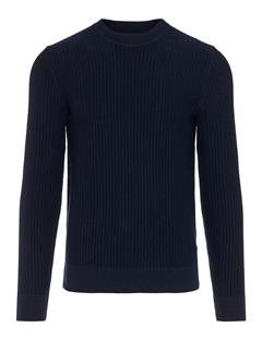 Mens Remus Vertical Structure Sweater JL Navy