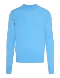 Mens Demyan Brushed Cashmere Sweater Ocean Blue