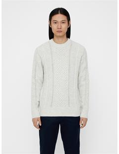 Mens Fedor Soft Cable Sweater Off White