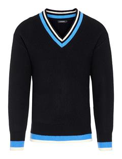 Mens Landon Dense Ribbed Sweater Black
