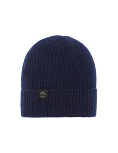 Mens Lincoln Brushed Cashmere Beanie JL Navy